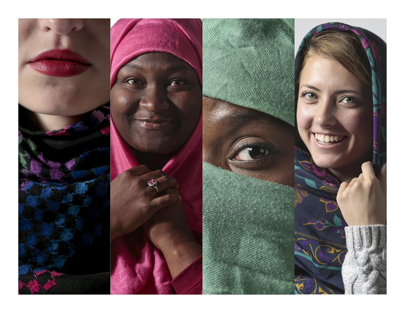 WKU+students+try+on+hijabs.+The+ESLI+and+ICSR+will+host+events+beginning+tonight+to+discuss+womens+cultural+dress%2C+including+an+opportunity+to+try+wearing+hijab+for+a+day.