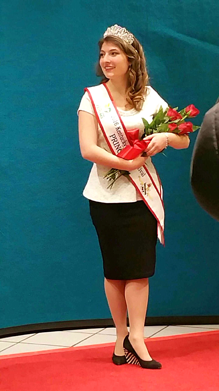 Andi Dahmer, a freshman from Louisville, was selected as one of the five candidates chosen to be in the Kentucky Derby Royal Court, a program comprised of a few girls selected from Kentucky and southern Indiana who serve as ambassadors for the festival. Dammer was chosen out of 28 finalists and 147 total applicants. Submitted Photograph from Andi Dahmer