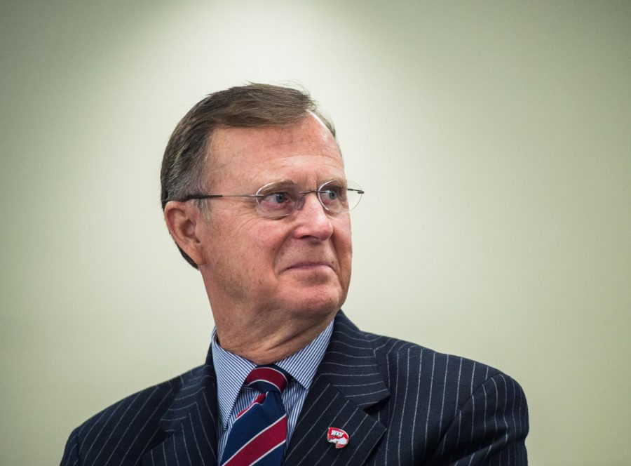 WKU+president+Gary+Ransdell+announced+his+resignation+of+presidency+at+the+Regents+Board+meeting+at+the+College+%26amp%3B+Career+Center+on+WKU%27s+Elizabethtown+campus+on+January+29%2C+2016.+Ransdell%27s+retirement+from+his+presidency+will+be+effective+June+30%2C+2017.+Emily+Kask%2FHERALD