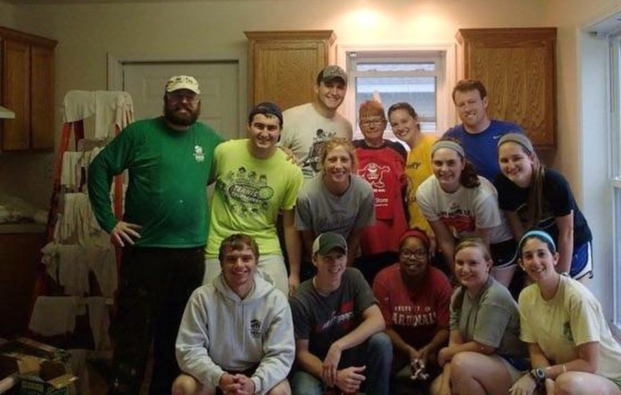 WKU students spent their spring break working on houses for Habitat for Humanity in Mobile, Al., Friday March 11. The team spent time renovating the house to be put on the market. Photo Submitted by Theresa Ford
