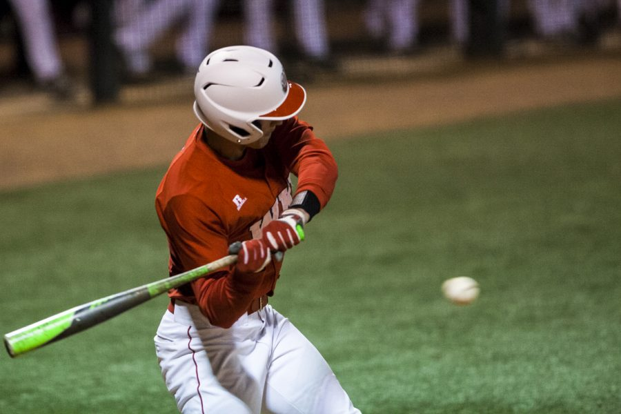 Sophomore+outfielder+Kaleb+Duckworth+%2813%29+tries+to+hit+the+ball+during+the+Hilltoppers%E2%80%99+17-0+loss+to+the+University+of+Louisville+Tuesday%2C+March+29%2C+at+Nick+Denes+Field.+Duckworth+was+at+base+twice+with+one+hit+and+struck+out+once.+Shaban+Athuman%2FHERALD