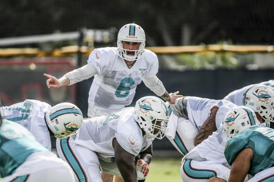 Former+WKU+quarterback+Brandon+Doughty+%286%29+practices+at+the+Miami+Dolphins+training+camp+Monday%2C+Aug.+1.+Doughty+was+drafted+by+the+Dolphins+in+the+seventh+round+of+the+NFL+draft.+Photo+courtesy+of+the+Miami+Dolphins