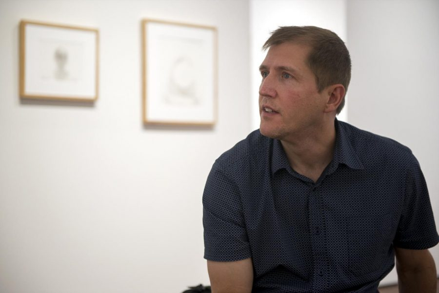 Professor Michael Nichols has several buon fresco works on exhibition at the Downing Museum at the Baker Arboretum in Bowling Green. Matt Lunsford/HERALD