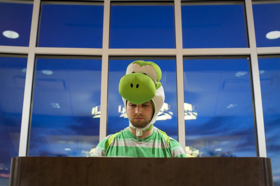 Luke Akridge, 27, a WKU computer science major and web developer for WKUs IT Department, attends an ASL costume party on Tuesday, October 25, 2016.
