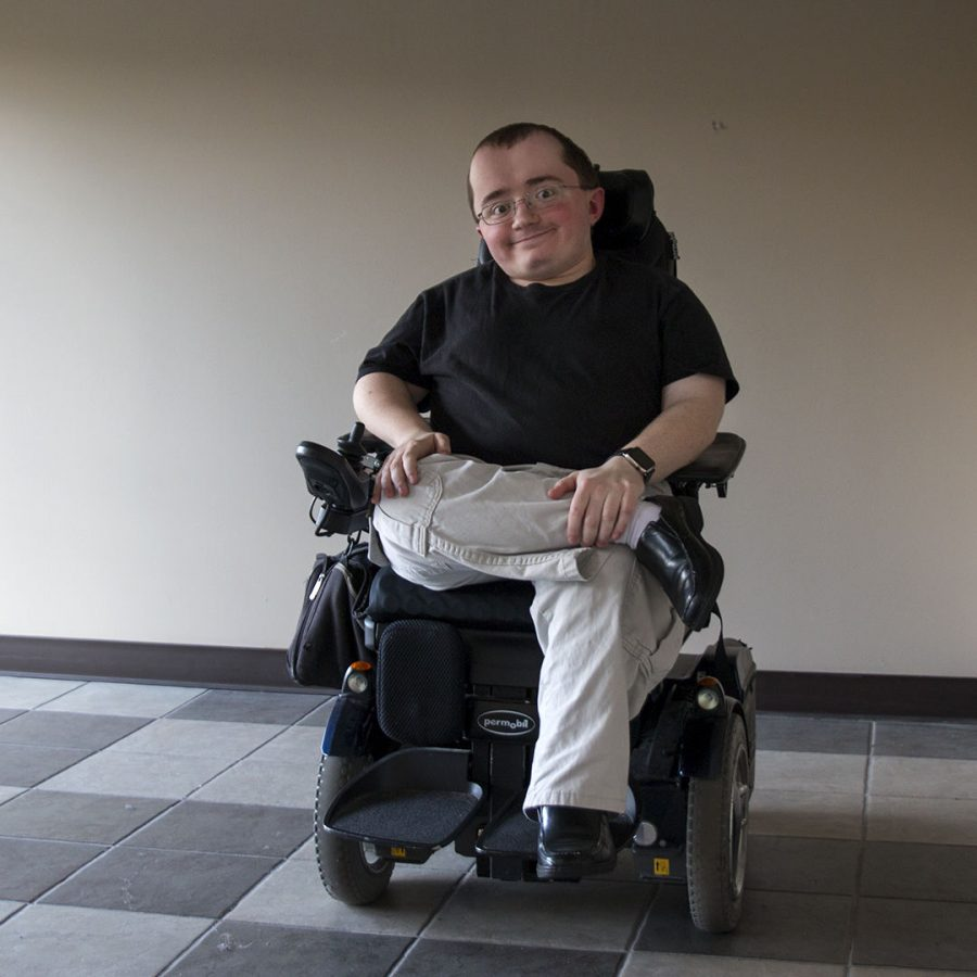 Jacob Holt, a senior from Franklin, started his own podcast in August of 2016 so that he could interview other students with disabilities and share their stories. He has released three interviews and has a fourth on the way. Kathryn Ziesig/HERALD