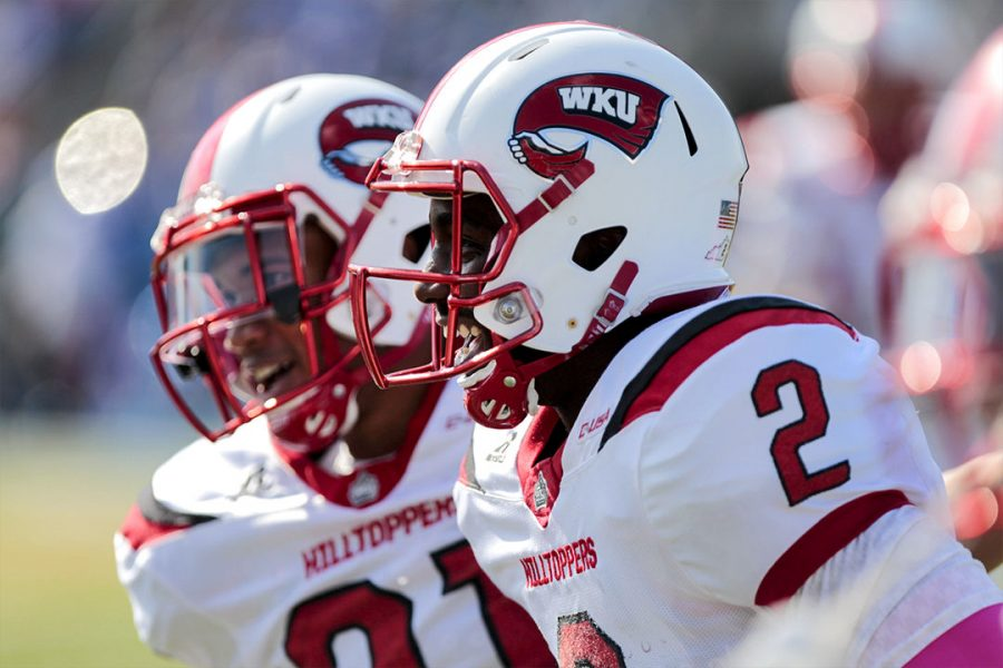 Western+Kentucky+wide+receiver+Taywan+Taylor+celebrates+with+his+teammates+after+scoring+the+first+touchdown+for+the+Hilltoppers+during+the+Hilltoppers+44-43+win+in+two+overtime+against+MTSU+on+Saturday+Oct.+15%2C+2016+at+Johnny+Red+Floyd+Stadium+in+Murfreesboro%2C+Tenn.+Lex+Selig%2FHERALD