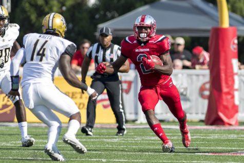 Senior wide receiver Taywan Taylor (2) runs downfield against Vanderbilt Saturday, Sept. 24, at Smith Stadium. Jeff Brown/HERALD