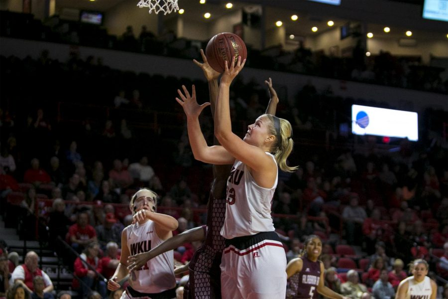 Junior+Forward+Ivy+Brown+%2823%29+takes+a+shot+during+the+first+half+of+the+Lady+Toppers+96-32+win+over+Alabama+A%26amp%3BM+on+Friday+Nov.+11%2C+2016+at+E.A.+Diddle+Arena.+Kathryn+Ziesig%2FHERALD