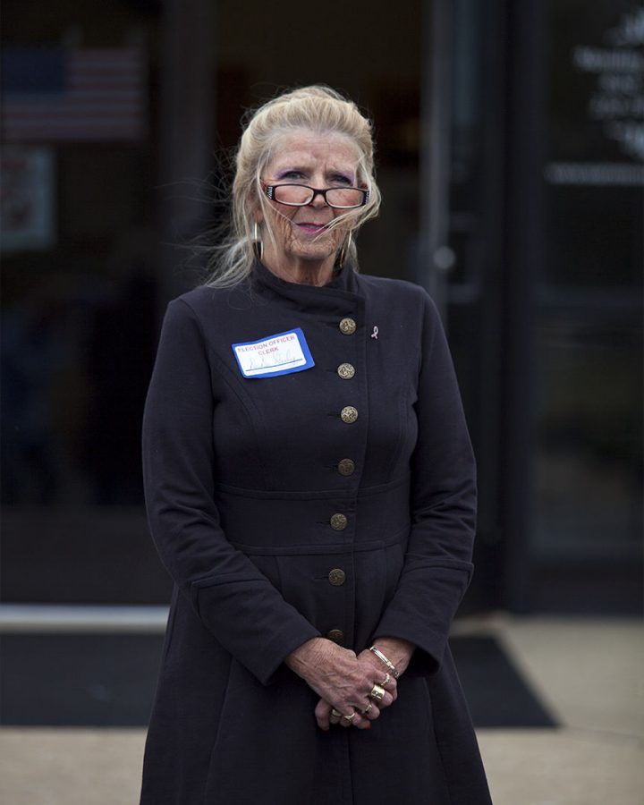 Dede Stanley of Bowling Green has worked at the Warren County Board of Education polling precinct for 10 years.