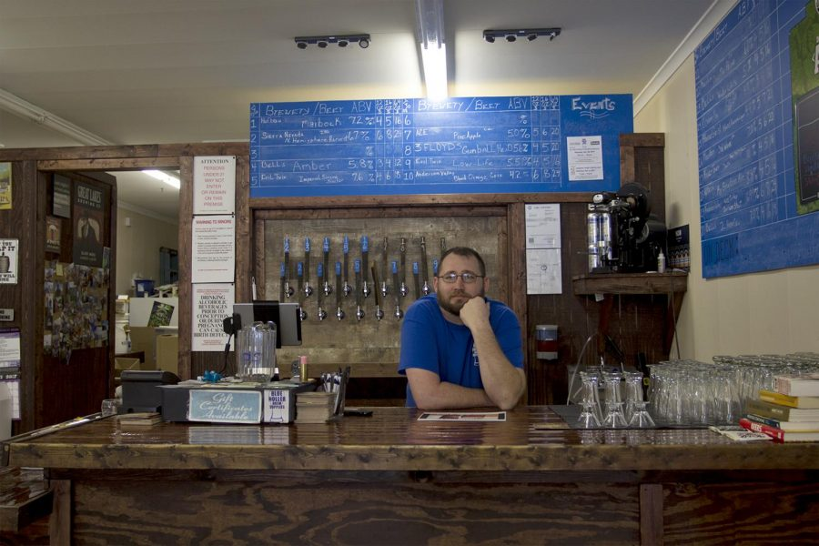 **BATCH CAPTION** Chris Karraker, owner of Blue Holler brewery, has been working at his business for two years. We try to do a fundraiser every month because its the community that keeps us alive so we try to give back, said Karraker. ** END OF BATCH CAPTION**