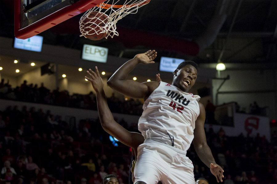 Senior+Forward+Anton+Waters+%2842%29+makes+a+basket+during+the+Hilltoppers+79-66+win+over+Alabama+State+on+Nov.+12%2C+2016+at+Diddle+Arena.