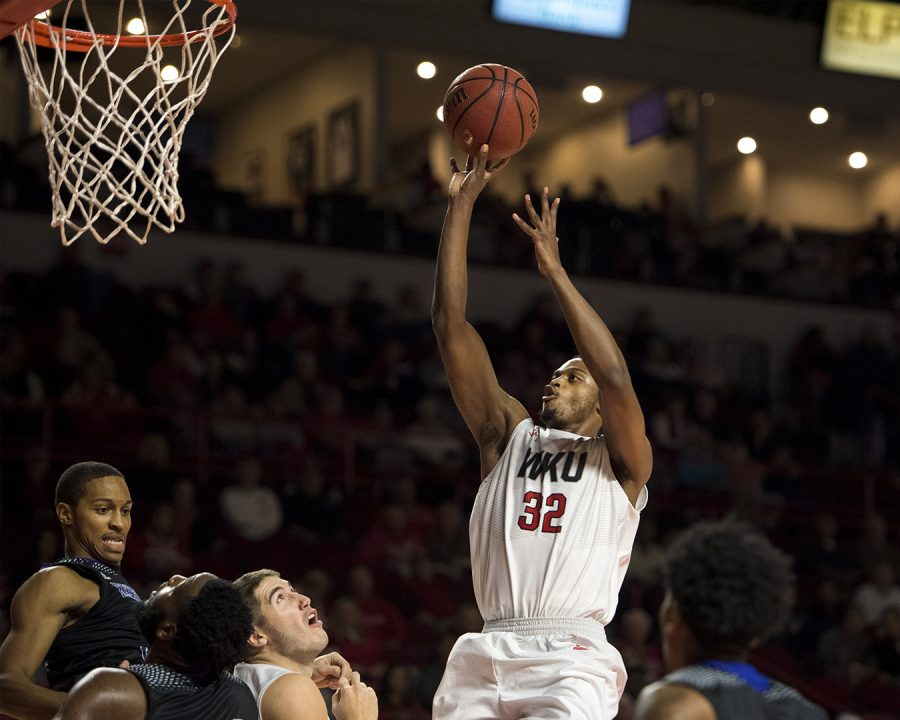 Redshirt+senior+guard+Que+Johnson+%2832%29+shoots+during+WKUs+103-97+double-overtime+win+against+Kentucky+Wesleyan+on+Saturday%2C+Nov.+5%2C+2016%2C+at+Diddle+Arena.