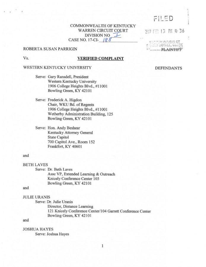 Bowling Green City Commissioner sues WKU