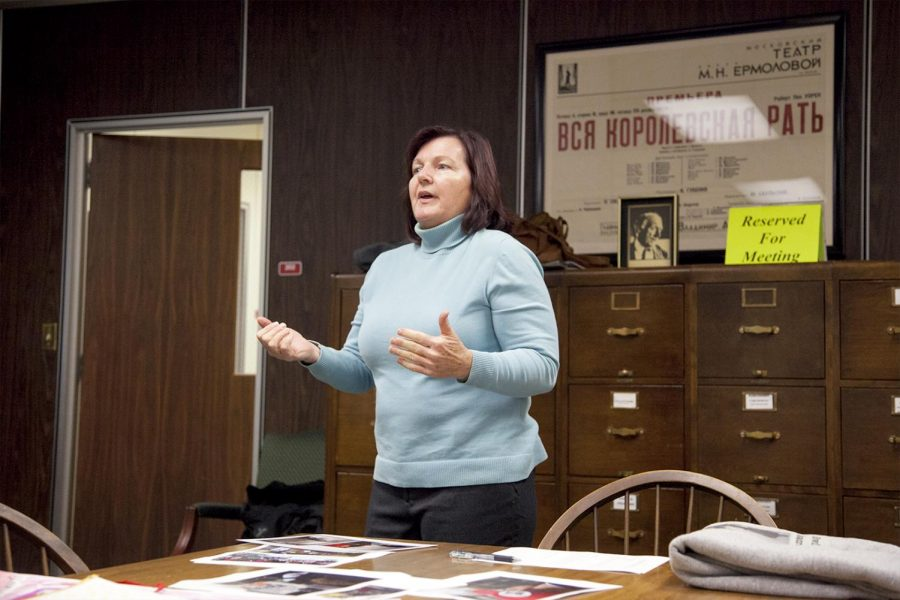Lynne Ferguson is one of the many donators to give to the Kentucky Museum located on WKU's campus. She has given two signs to the political exhibit that were personally used in the Women's March in Nashville, Tn.