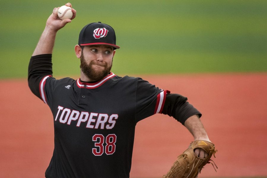 Senior+pitcher+Kevin+Elder+took+the+mount+last+for+the+Hilltoppers+in+a+3-2+loss+against+Jacksonville+State+University+on+Friday%2C+Feb.+24%2C+2017.+In+his+two+relief+appearances%2C+totaling+6.1+innings%2C+Elder+has+only+allowed+three+hits.