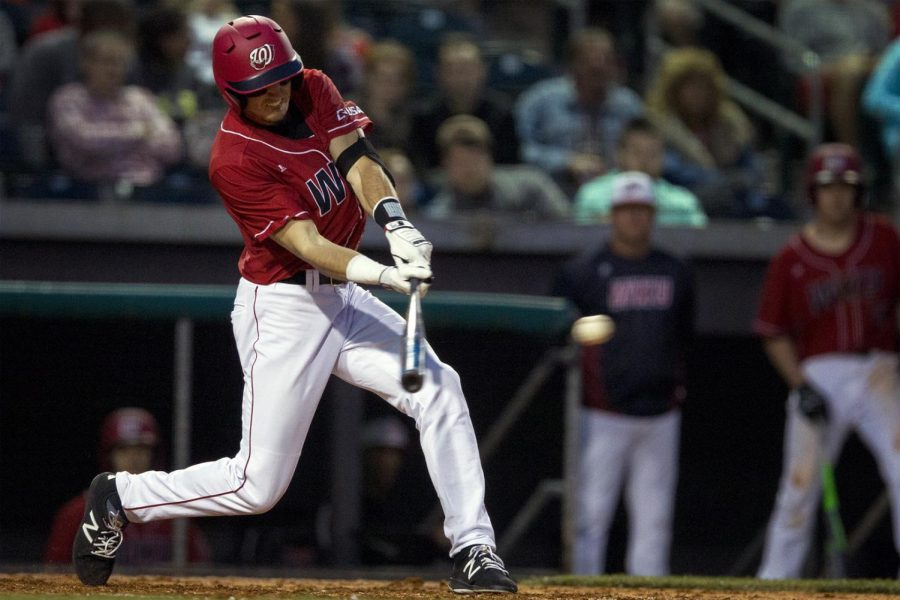 infielder+Thomas+Peter+%287%29+bats+during+the+Hilltoppers+4-3+loss+against+UK+on+Tuesday+Mar.+21%2C+2017+at+the+Bowling+Green+Hot+Rods+stadium.