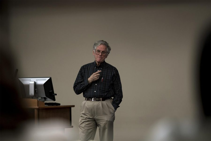 Dr. Sam McFarland discusses his extensive research during his talk entitled