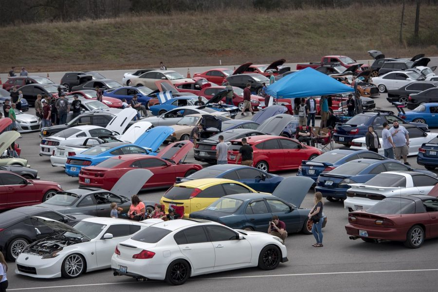 Participants+in+the+2017+Southern+Roots+Spring+Fling+line+up+their+show+cars+for+spectators+to+admire+on+Saturday+March+25%2C+2017+at+National+Corvette+Museum+Motorsports+Park.