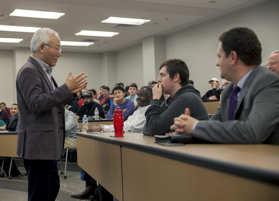 Dr. Dochul Choi, VP of Samsung was the guest speaker on Friday April 7, at Snell Hall in honor of WKU's international year of South Korea. He talked to students about the importance of culture and language.