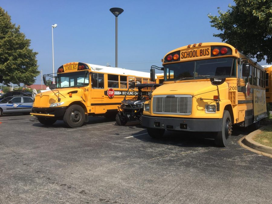 The 12th annual Stuff the Bus fundraiser began Thursday. Local radio show host Tony Rose started the event and lives in a school bus for the duration of the event which raises school supplies for students. Rebekah Alvey/WKU Herald