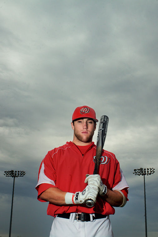 Western center outfielder Kes Carter poses for a portrait at Nick Denes Field.Christian Randolph/WKU Herald