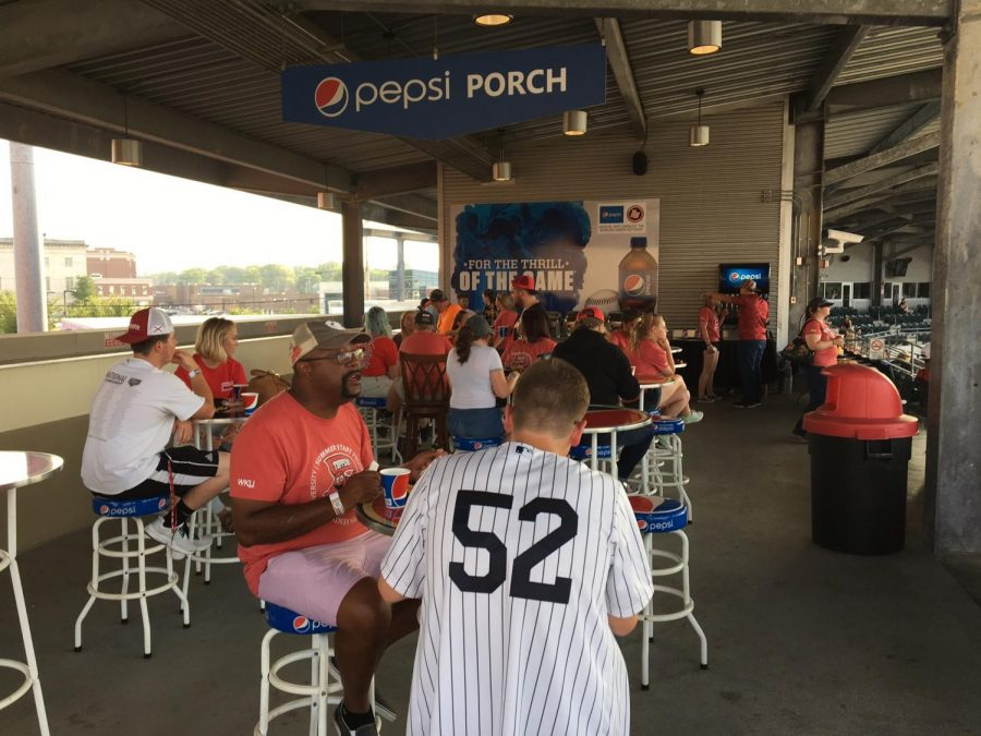 Students participating in Summer Start have the opportunity to attend social events in the community. On July 21, the students were able to attend a Hot Rods game. (Photo provided by Erin Holderman)
