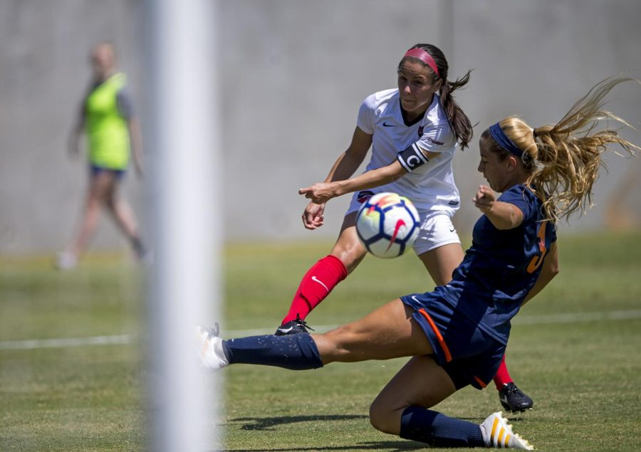 Senior+midfielder+Hannah+Chua+%282%29%2C+takes+a+shot+on+goal+during+the+second+half+of+WKU%27s+game+versus+UT+Martin+on+Sunday+August+27%2C+at+the+WKU+Soccer+Complex.