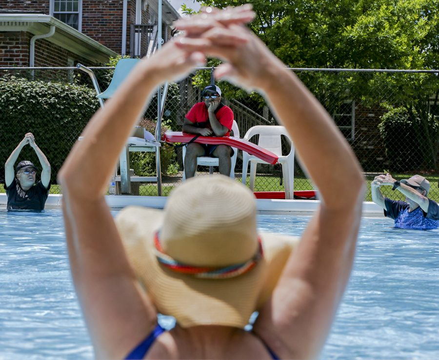 Manager+Nathan+Eapen+watches+the+Senior+Water+Aerobics+with+the+Senior+Center+class+at+the+Picadome+Pool+on+Monday%2C+June+19%2C+2017+in+Lexington%2C+Ky.