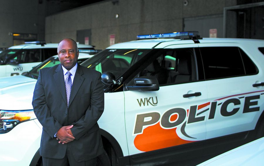 Mitchell Walker, pictured here after being named WKU's new interim chief of police in August 2016, is now WKU's new police chief.