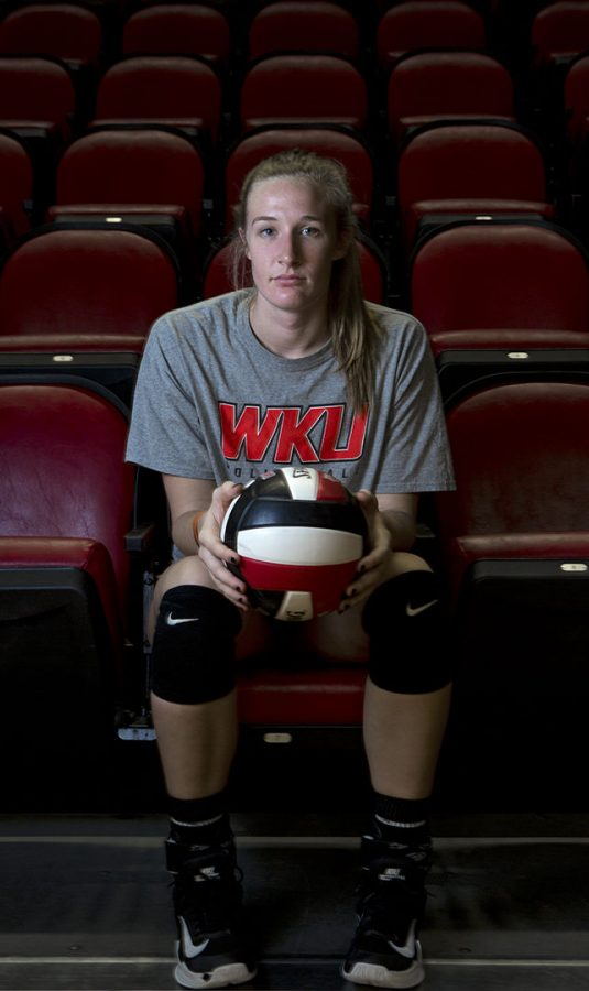 Junior+middle+hitter+Rachel+Anderson+continues+her+third+year+on+WKU%27s+women%27s+volleyball+team.+During+WKU%27s+last+game+at+Charlotte%2C+Anderson+scored+a+season-high+in+with+22.+Anderson+started+volleyball+when+she+was+a+kid%2C+%22It%27s+given+me+a+lot+of+opportunities+in+life.+Things+I+never+would+have+experienced%2C%22+Anderson+said.