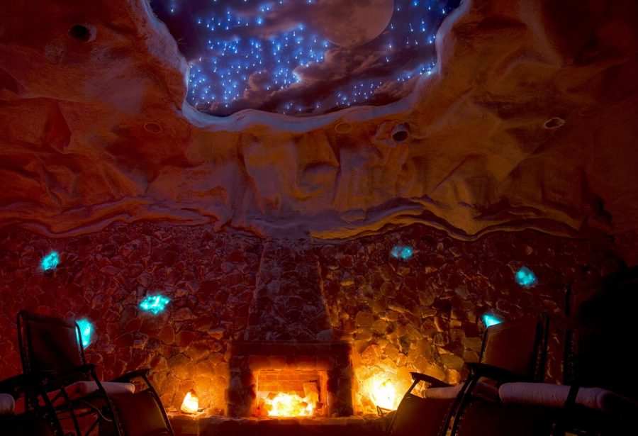Be+Happy+Yoga+and+Salt+Cave+is+a+man-made+cave+built+with+over+6+tons+of+Himalayan+salt.+The+air+in+the+salt+cave+is+treated+with+a+special+halogenerator+that+infuses+the+air+with+tiny+particles+of+pharmaceutical+grade+salt.