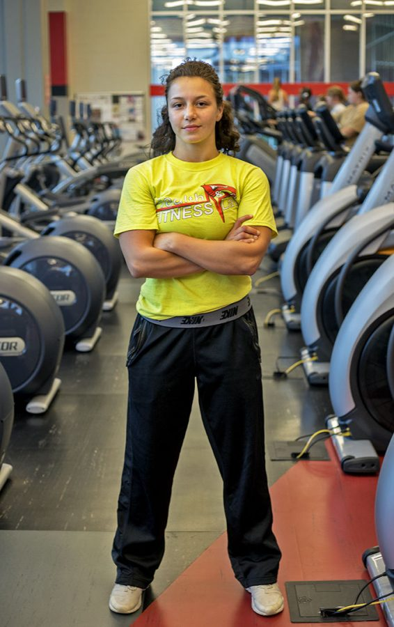 Anna Simic, a junior from Louisville works as a physical trainer at the Preston Center. Simic says there's a physical activity for everyone. However, she says,