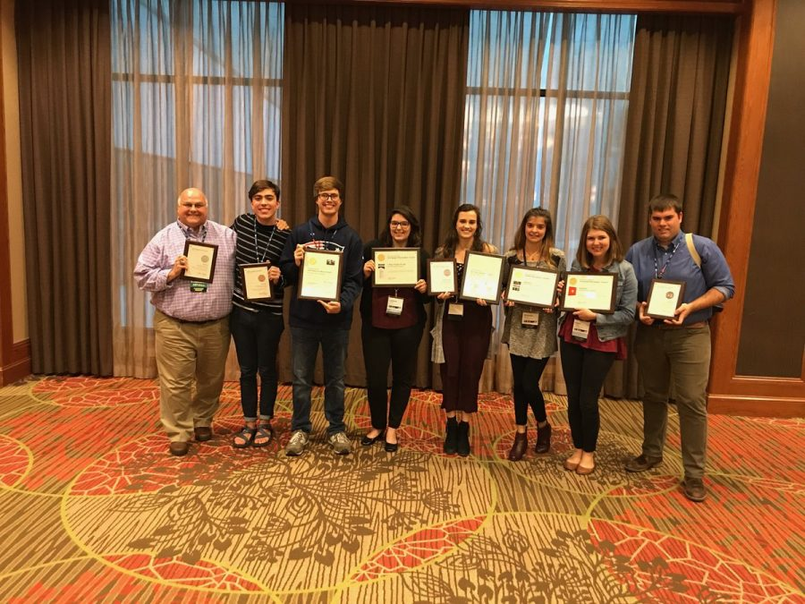 Staff+members+of+the+College+Heights+Herald+and+the+Talisman+attended+the+National+College+Media+Conference+this+weekend+in+Dallas%2C+Texas.+The+Herald+won+a+Pacemaker+in+the+newspaper+category+and+the+Talisman+won+in+the+yearbook+and+website+categories.%C2%A0