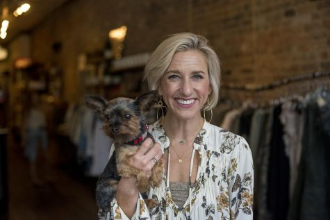 """Kristen Robinette grew up in Bowling Green and graduated from WKU. Robinette was a cheerleader and was involved in homecoming. """"There was all kinds of stuff going on and we were involved in everything,"""" she said. She now owns a boutique on the square downtown. """"I love Bowling Green,"""" she said. """"It"""