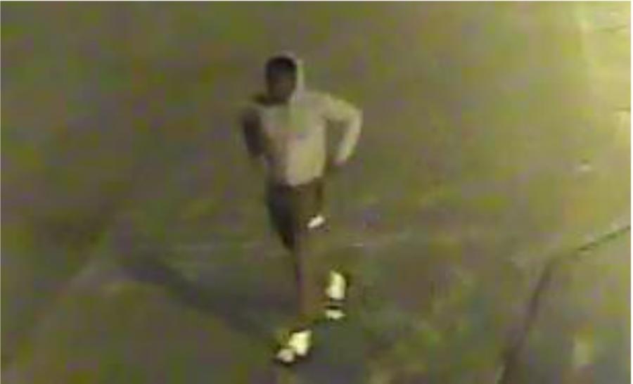 Security camera footage of suspect