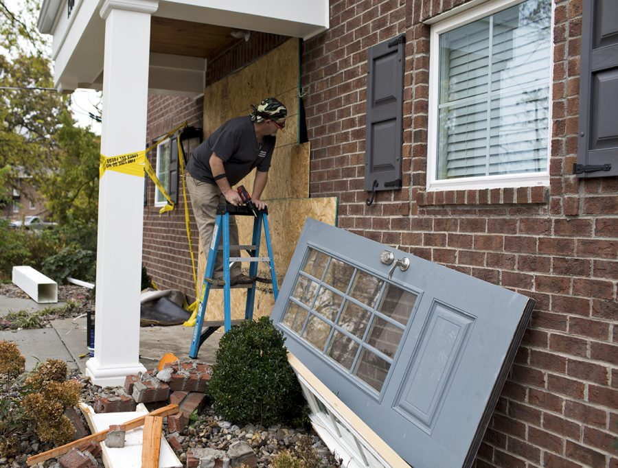 Russell+Kerr+crashed+into+the+front+door+of+the+Alpha+Xi+Delta+sorority+house+around+12+a.m.+on+Friday+Nov.+3.