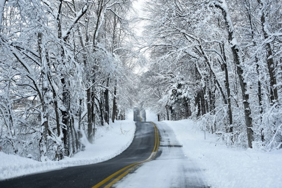 While main roads were mostly clear, backroads in much of Kentucky were still patched with snow and ice in the winter of 2016. Jennifer King/HERALD