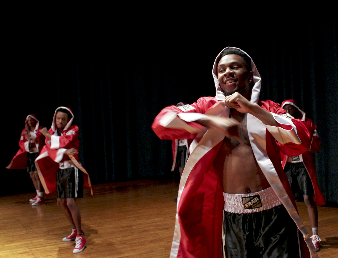 Memphis, TN, junior Vincent Holloway is seen practicing for the first annual 'Mr. Devastating' pageant, hosted by Delta Sigma Theta sorority. Holloway and his competitors have been practicing for 'Mr. Devastating' since early September. The winner of the pageant will be awarded a $350 scholarship.