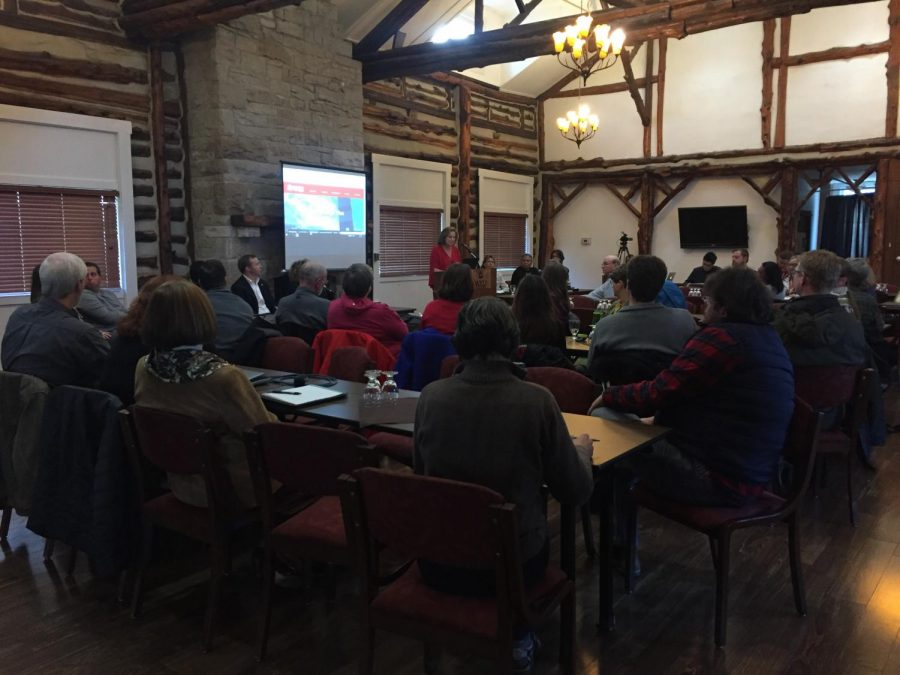 Faculty, staff and students gathered in the Faculty House on Thursday for a strategic planning open forum. Improving diversity across campus and offering more education options for nontraditional students were among the topics discussed.