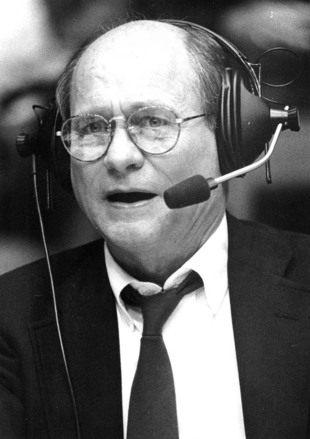 Wes+Strader+calls+a+game+in+1989-90%2C+one+of+the+many+during+his+36-year+career+as+the+%22Voice+of+the+Hilltoppers.%22