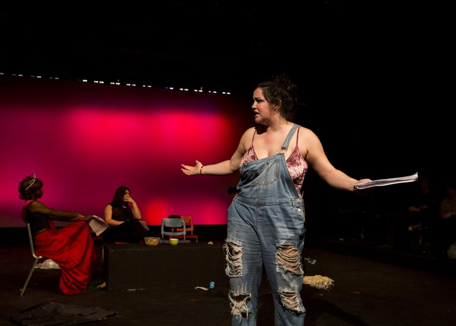 Arielle Conrad performs in the semesterly event Plays in a Day Friday, Jan. 27 in Gordon Wilson Theatre. This event gives students a platform to create original pieces that are produced in less than 24 hours.