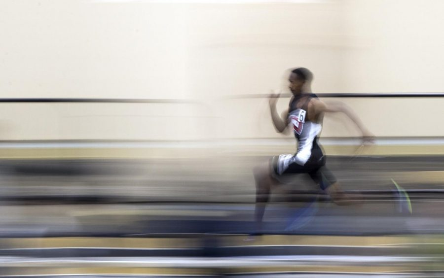 WKU sprinter Charles Shimukowa competes in the 400 meter run during Vanderbilt's Music City Challenge on Saturday, Feb. 10 at Vanderbilt Rec. Center and Indoor Track Facility in Nashville. Shumukowa finished with the time of 48.80.