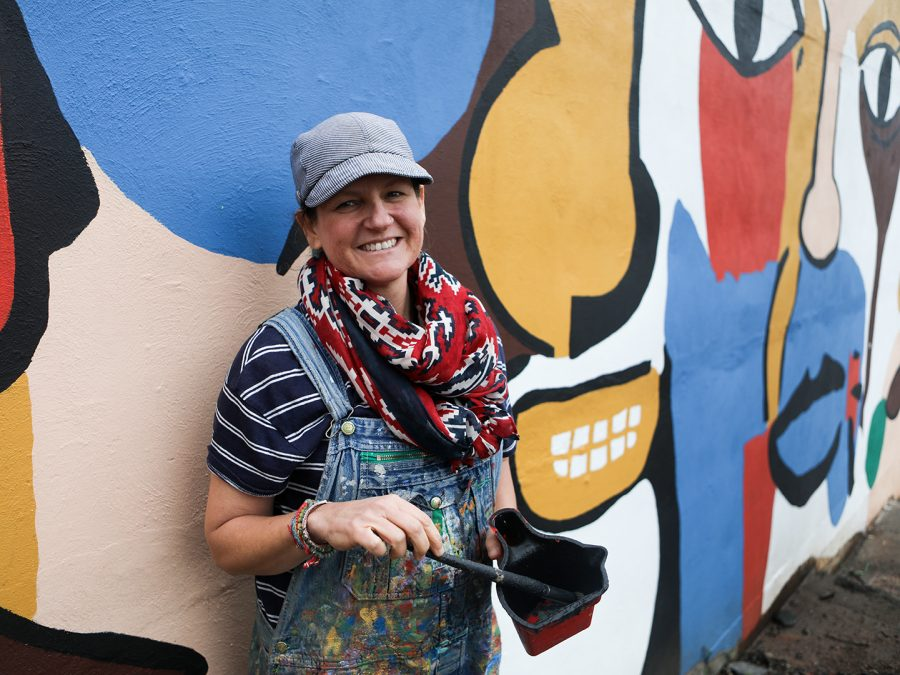Andee+Rudloff%2C+a+muralist+from+Bowling+Green%2C+has+painted+several+murals+on+the+WKU+campus+and+around+the+community.+Her+mural+behind+the+Gender+and+Woman+Studies+Office%2C+pictured+here%2C+has+adorned+the+campus+for+the+past+12+years.