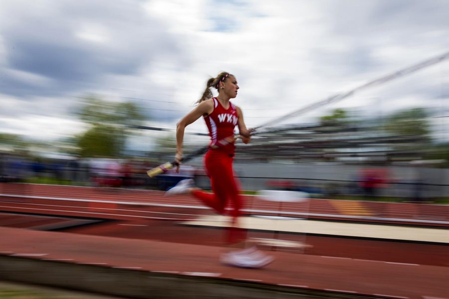 WKU pole vaulter Getter Lemberg runs to jump during the Hilltopper Relay on April 08, 2016 at Charles M. Rueter Track and Field Complex in Bowling Green, Ky.