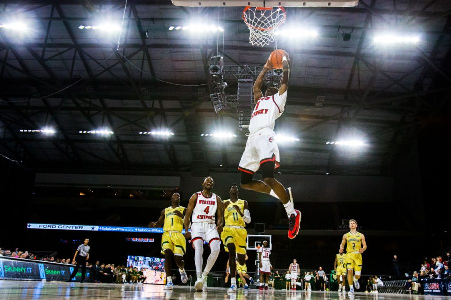 WKU+Guard+Lamonte+Bearden+%281%29+dunks+the+ball+during+the+Hilltoppers+game+in+first+game+of+the+Conference+USA+tournament+against+University+of+Alabama+at+Birmingham+on+Thursday+March+8%2C+2018+at+The+Star+in+Frisco%2C+Tx.