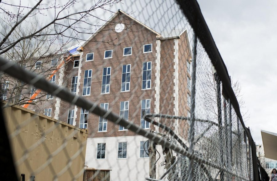 Hilltopper Hall, located in The Valley, started construction on Feb. 1, 2017. The construction manager on site estimates that they will start moving furniture into the new dorm around June 1, 2018, and are aiming for occupancy by August.