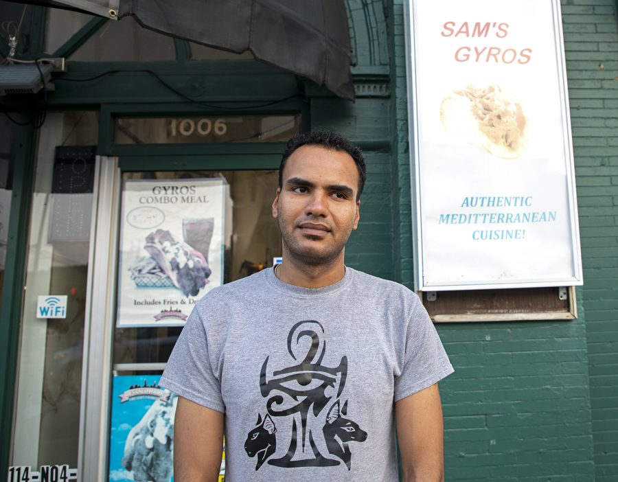 Peter Sedrak, 27, of Cairo Egypt, is the owner of three Sam's Gyro locations in Bowling Green. The location he works at was open around April of this year at the square at 1006 State Street. The name Sam's Gryo came from his Uncle who created the family business, marking this year about 15 years.