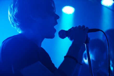 Lead singer Matthew Shultz performs with his band Cage the Elephant at Rocky