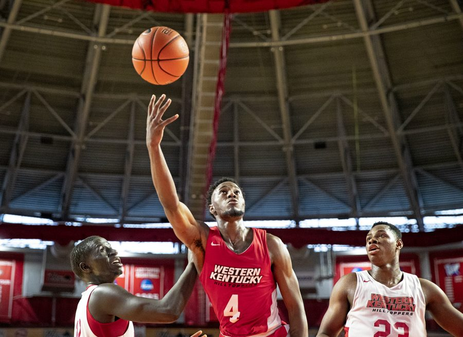 Western Kentucky University men's basketball engages in an in-house scrimmage at EA Diddle Arena October 20 in Bowling Green.