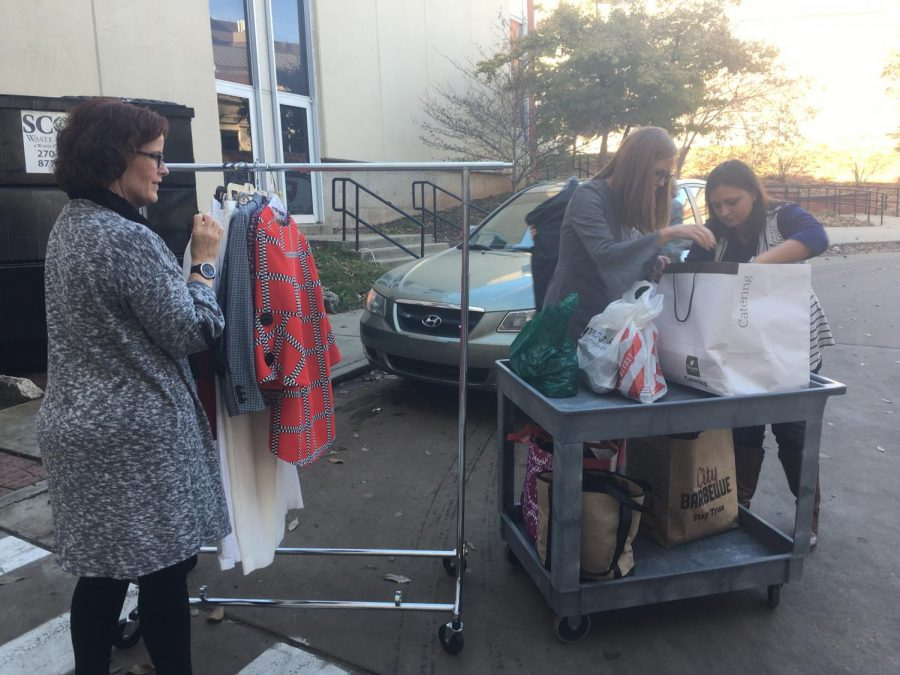 Members of WKU Sisterhood traveled from Louisville to donate clothes to the PEAK Professional Clothes Closet at their annual meeting Friday, Nov. 16.